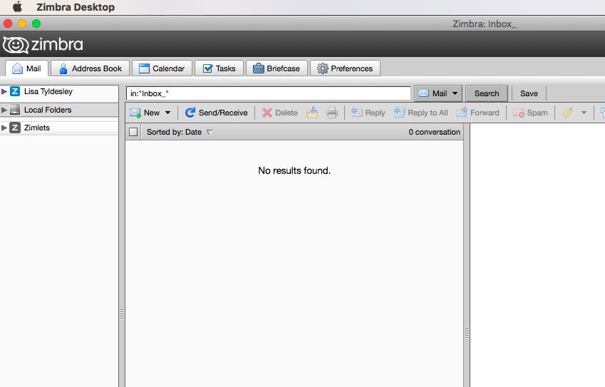 Run Zimbra Desktop directly from a browser window - In